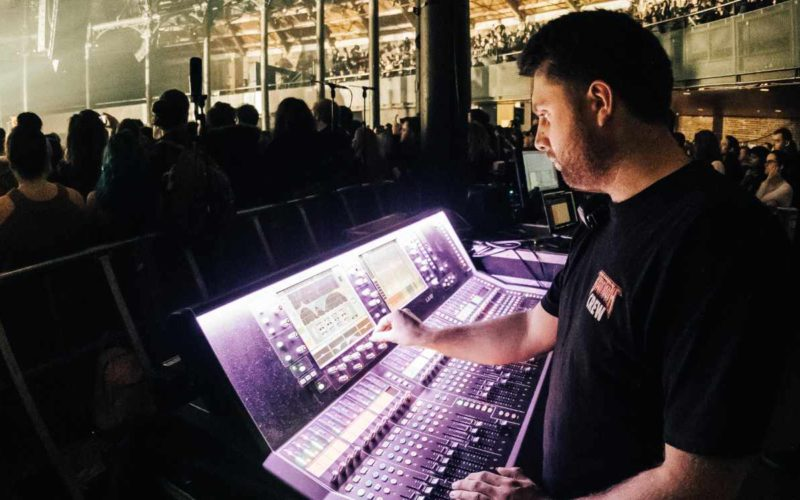 Danny Harvey FOH engineer dLive mixer live sound touring concert MixMasters Podcast